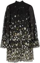 Erdem Concetta floral-print cape-effect dress