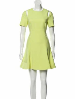 Cinq à Sept Crew Neck Mini Dress Yellow