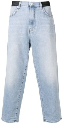 Versace cropped straight-fit jeans