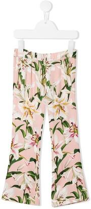 Dolce & Gabbana Floral Straight-Leg Trousers