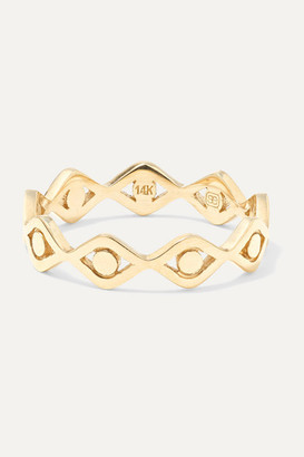 Sydney Evan Evil Eye 14-karat Gold Ring - 6