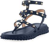 Valentino Free Rockstud Gladiator Thong Sandal w/ Rubber Sole