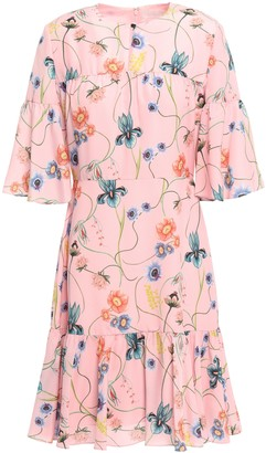 Borgo de Nor Alba Floral-print Crepe De Chine Dress