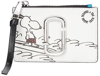 Marc Jacobs Snapshot Peanuts Americana Top Zip Multi Wallet (White Multi) Wallet Handbags