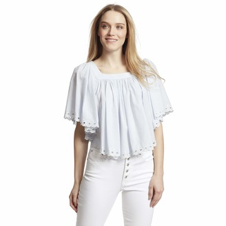 Ella Moss Women's Lynne Shirred Scallop Hem Top
