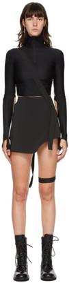 Hyein Seo Black Garter Miniskirt