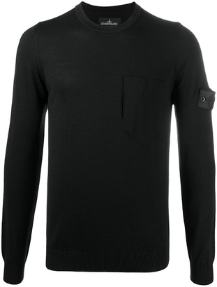 Stone Island Shadow Project Logo Patch Sweatshirt
