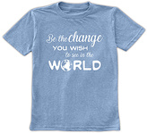 Urban Smalls Heather Blue 'Be the Change' Tee - Toddler & Boys