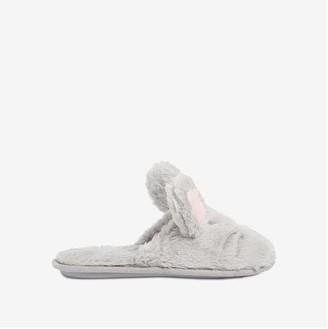 Joe Fresh Women's Faux Fur Slippers, Grey (Size M)