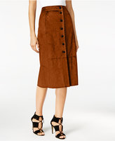 Catherine Malandrino Catherine Faux-Suede A-Line Skirt