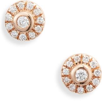 Dana Rebecca Designs Lauren Joy Mini Diamond Disc Stud Earrings