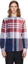 Moncler Gamme Bleu Tricolor Check Shirt