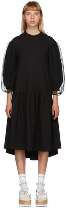 Simone Rocha Black Puff Sleeve Dress