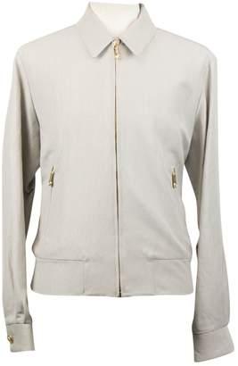 Versace Grey Cotton Jackets