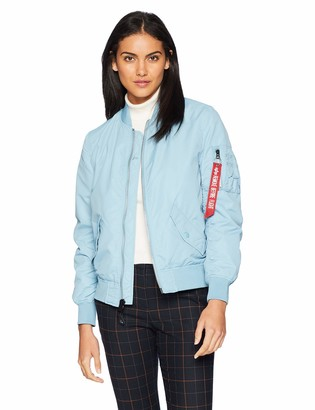 Alpha Industries Womens L-2B Scout MID Length Zip Flight Jacket with Pockets