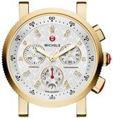 Michele Sport Sail 18 Diamond Gold Watch Head, 38mm