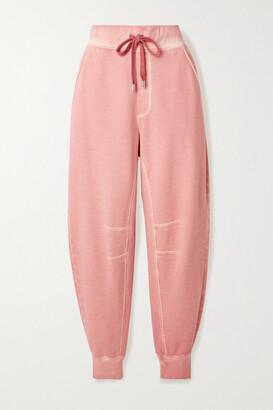 Veronica Beard Preslee Cotton-terry Track Pants
