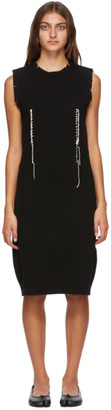 Maison Margiela Black Wool Knit Dress