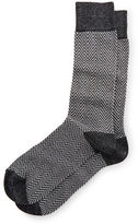 Neiman Marcus Herringbone & Heather Crew Socks