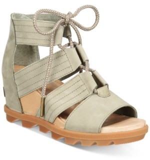 Sorel Joanie Ii Lace-Up Wedge Sandals Women's Shoes