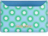 Miu Miu polka dot cardholder - women - Calf Leather - One Size