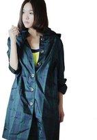 Dopobo Women Ladies Girls Fashion Stylish Lovely Hooded Raincoat Rain Jacket Rainwear