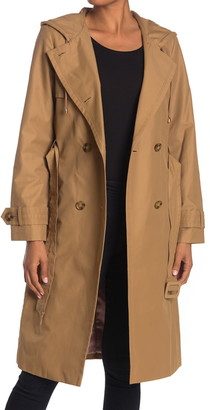 Kate Spade Double Breasted Hooded Trench Coat