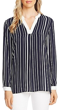 Vince Camuto Striped V-Neck Top