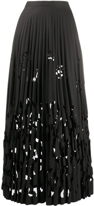 Romeo Gigli Pre-Owned 1990s Cut-Out Pleated Skirt