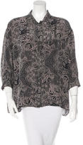 Emma Cook Oversize Button-Up Top