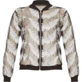 Dorothy Perkins Womens *Tenki Black Feather Print Bomber Jacket- Black