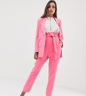 Parallel Lines paperbag waist pants co-ord
