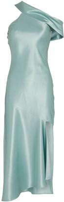 Cushnie Draped Asymmetrical Midi Dress