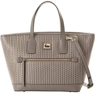 Dooney & Bourke Camden Convertible Woven Leather Tote