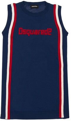 DSQUARED2 Sleeveless Cotton Jersey Dress