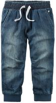 Carter's Girls 4-8 Lined Denim Jogger Pants