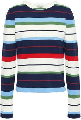 By Malene Birger Striped Ribbed-knit Sweater