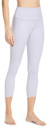 Zella Scalloped Studio Lite 7/8 Leggings