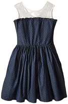 fiveloaves twofish Miss Denim Dot Party Dress (Little Kids/Big Kids)