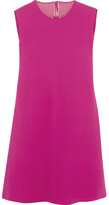 Valentino Draped Silk-cady Mini Dress - Fuchsia