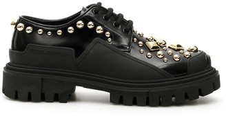 Dolce & Gabbana Stud Embroidery Trekking Derby Shoes
