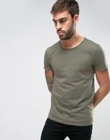 BOSS ORANGE by Hugo Boss Raw Edge T-Shirt Regular Fit in Green