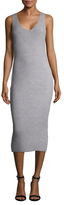 Finders Keepers Prime Time Ribbed Sheath Dress