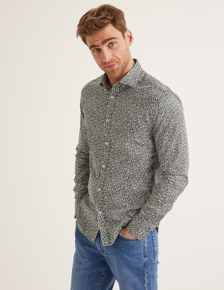 Slim Fit Printed Twill Shirt