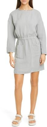 NSF Lulyisa Long Sleeve Linen Blend Minidress