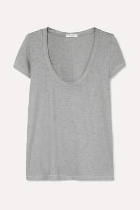 Rag & Bone U Neck Slub Pima Cotton-jersey T-shirt - Blue
