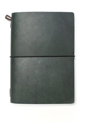 Mr Fox Handmade Passport-Size Green Leather Traveler's Notebook