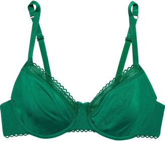 Maison Lejaby La Petite Rickrack-trimmed Stretch-micro Modal Jersey Underwired Soft-cup Bra