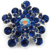 Avalaya Swarovski Crystal Star Brooch (Navy )