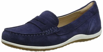 Geox Women's Vega 1 Suede Walking Penny Loafer Blue 36 Medium EU (6 US)